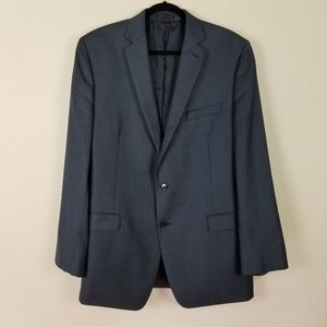 Calvin Klein Slim Fit Blue Men wool Blazer 44 L